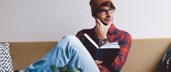 a man wondering what book should i read next
