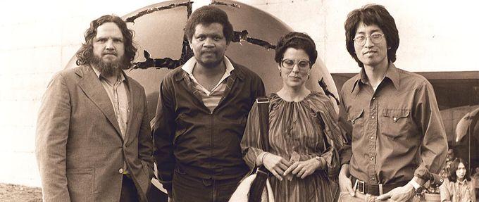 author ishmael reed with bob callahan, carla blanc, and shawn wong