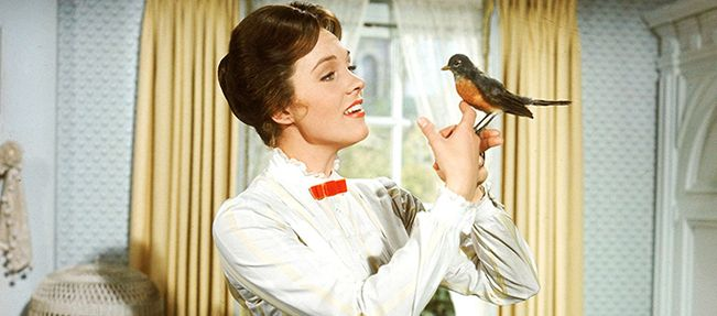Julie Andrews as Mary Poppins, in the movie based on the book