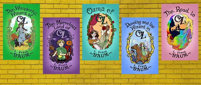 the wonderful wizard of oz first five books by l frank baum