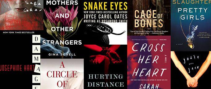 psychological thriller books collage