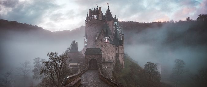 image of castle in fog, creepy crate #19 preview
