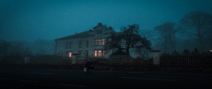 house, haunted, creepy, night