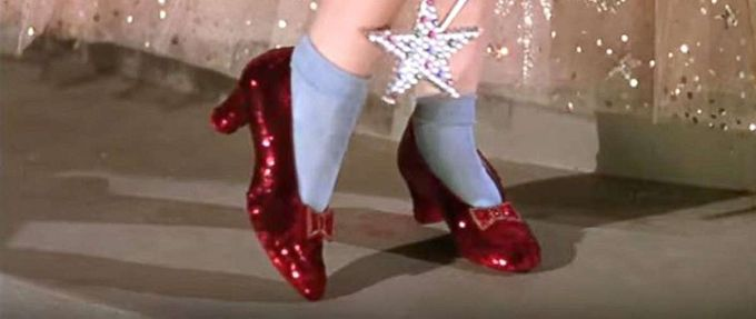 ruby red slippers wizard of oz