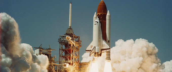 On the Space Shuttle Challenger (January 28, 1986)