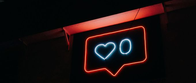 neon sign likes