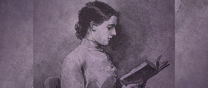 woman reading a gothic romance novel