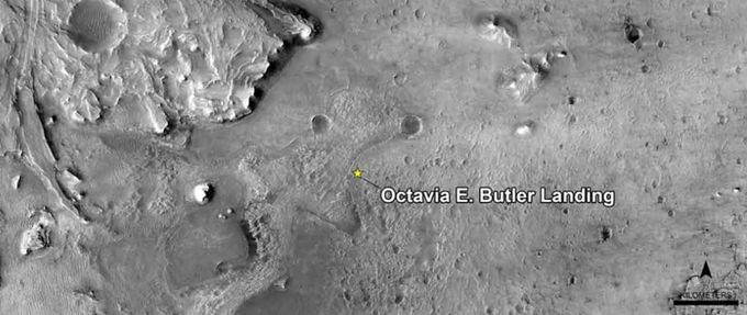 Octavia Butler landing Mars Perseverance