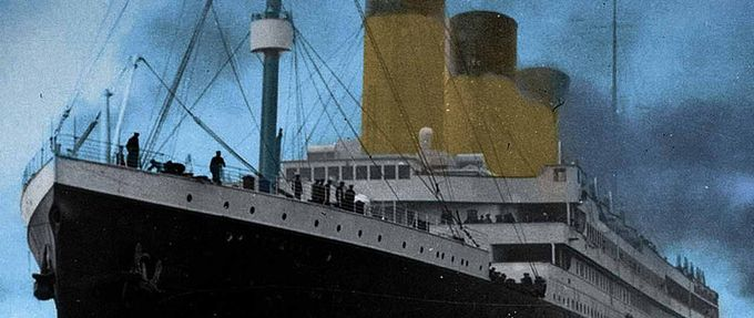 Illustration of the RMS Titanic