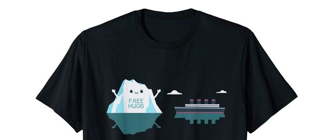 funny history shirts titanic free hugs featured image