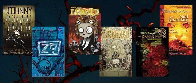 goth comics feature