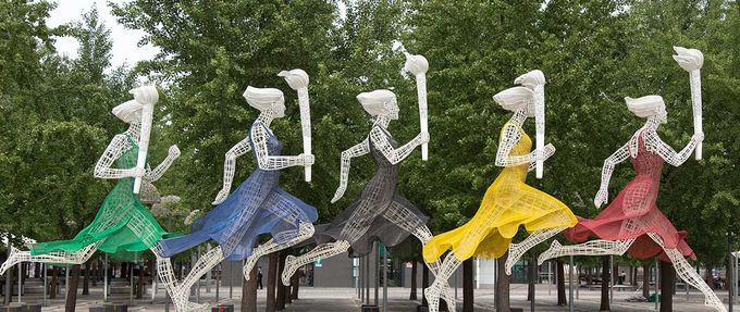 statue from olympic park in beijing