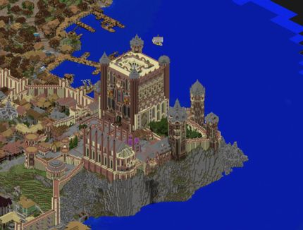 motte and bailey castle minecraft map download