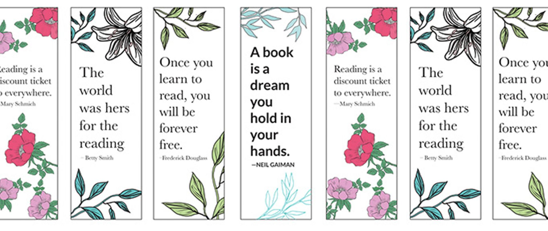 14 Free Printable Bookmarks To Brighten Up Your Books